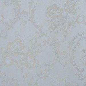 Rouleau de papier peint contemporain intissé à motif floral Or