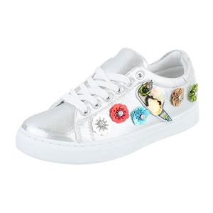 Femme chaussures loisirs chaussures Sneaker blanc argent 40 AtQ7v2