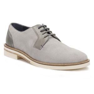 DERBY Ted Baker Chaussures Siablo en daim perforé gris c