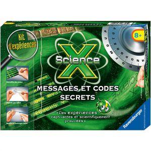 EXPÉRIENCE SCIENTIFIQUE SCIENCE X RAVENSBURGER Messages et Codes Secrets J
