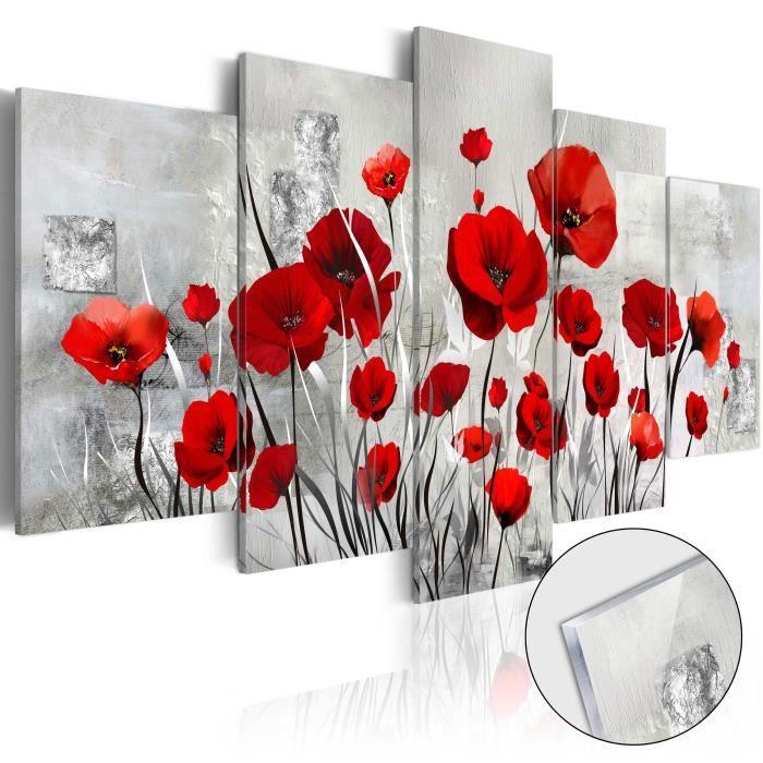 PARAVENT Tableau sur verre acrylique  |  Scarlet Cloud [Gla