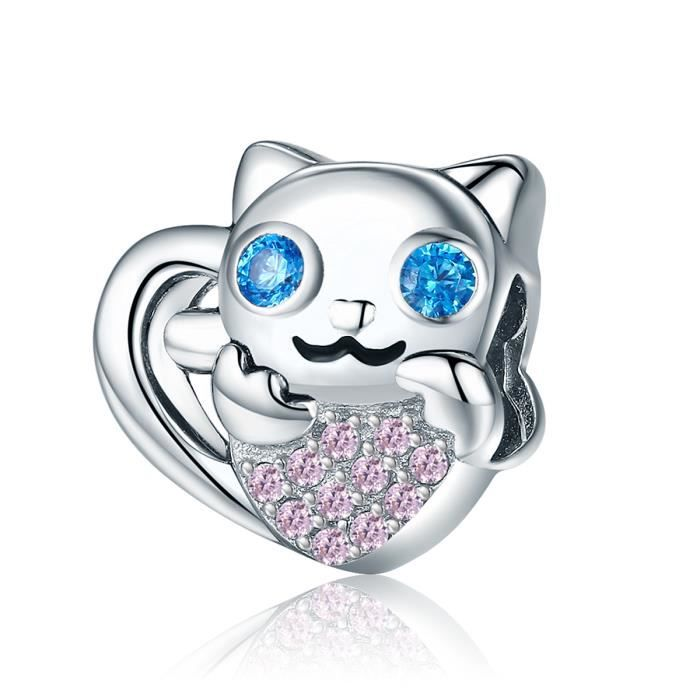 Charm's WOSTU Chat collant Charms Beads Compatible Pandora