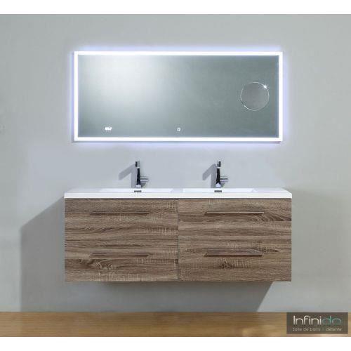 meuble double vasque 140 chene fonce infinity neo Résultat Supérieur 15 Impressionnant Meuble Double Vasque 140 Stock 2018 Xzw1