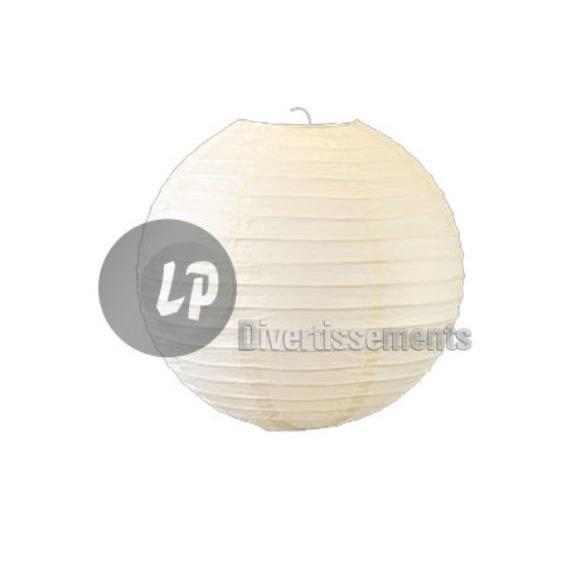 Lampion boule abat-jour papier blanc 50cm - Achat / Vente Lampion ...