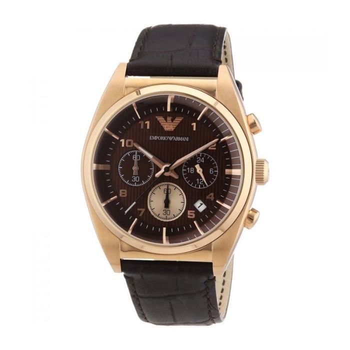 Montre Homme Emporio Armani AR0371 Doré - Achat   Vente montre ... f50df7dcdeb