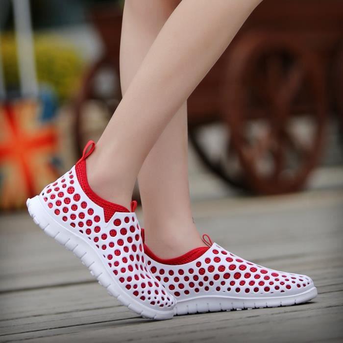 Chaussures Femme Printemps Nouveau mode respirante sandales plates-out Cut