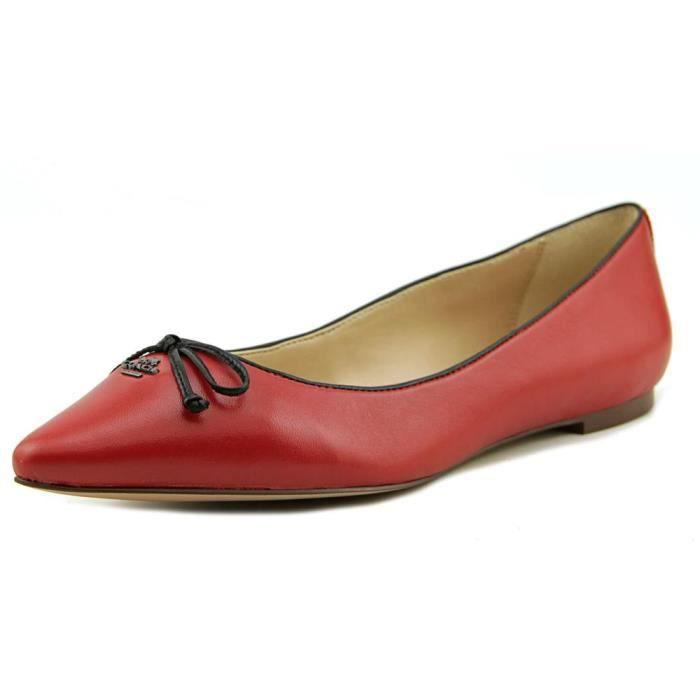 Coach Radient Femmes Cuir Chaussure Plate