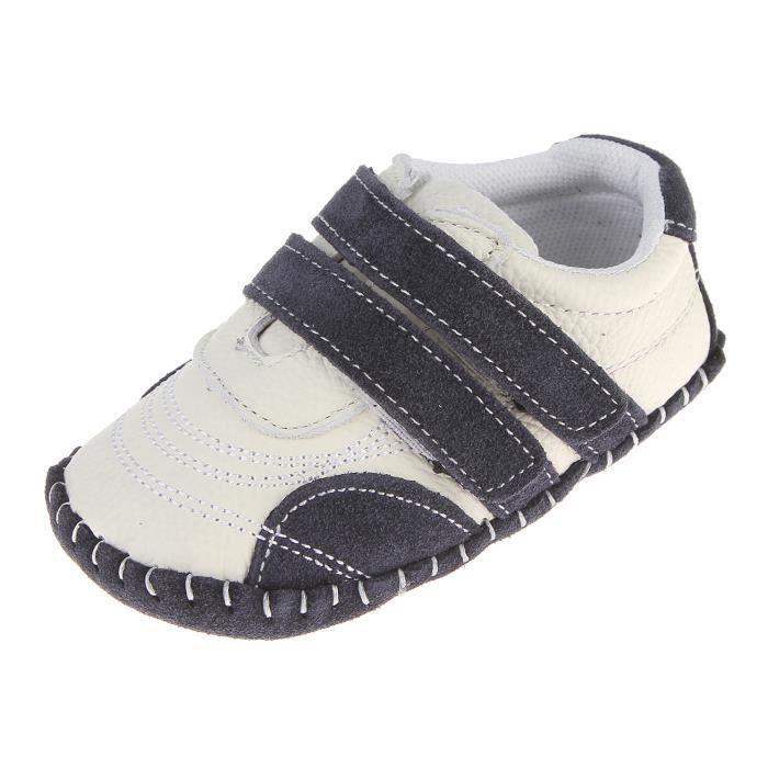 nouveau produit e569c 58193 EOZY Chaussures Bébé en Cuir Souple Premier Pas Chausson Cuir Bébé Fille  Chaussure Bébé Garçon