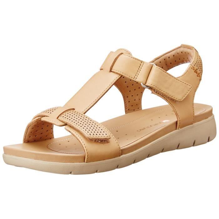 901fbc9ec Clarks Un Haywood Sandales de mode en cuir pour femme MFYJW Taille-38