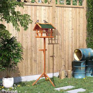 mangeoire a oiseaux en bois achat vente mangeoire a oiseaux en bois pas cher cdiscount. Black Bedroom Furniture Sets. Home Design Ideas
