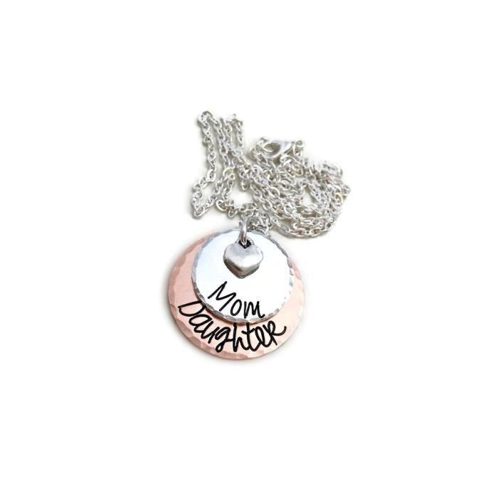 Craze Maman - Fille Collier - cadeau parfait pour maman Fille - - Bijoux personnalisés