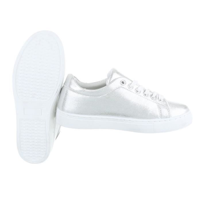 Femme chaussures loisirs chaussures Sneakers Chaussures de sport argent 40