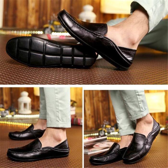 Moccasin homme En Cuir Nouvelle Mode ete Marque De Luxe Confortable chaussure hommes Haut qualité Durable Super Grande HKEEt0H