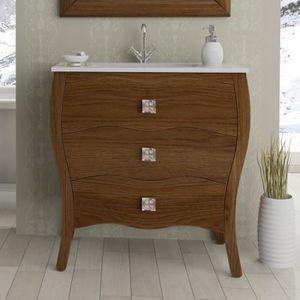 meuble vasque salle de bain avec pied 80 cm achat vente pas cher. Black Bedroom Furniture Sets. Home Design Ideas
