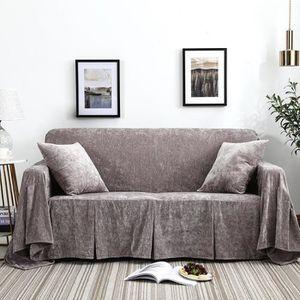 HOUSSE DE CANAPE Housse de canapé, 200x200cm Gris, extensible clic