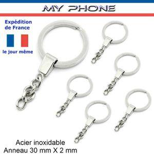 LOT 6 ANNEAUX porte clés + Belle chaine Split-Fen . a996cd52567