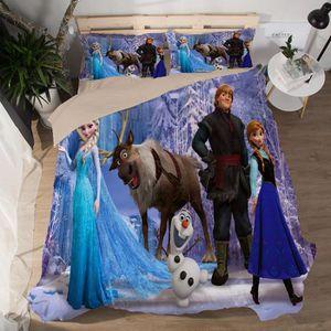 PARURE DE DRAP Disney Frozen Parure de lit 3 pièces de Marque -1