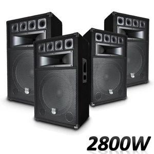 ENCEINTE ET RETOUR 4 Enceintes passives Pro 2000W Total pour Sonorisa