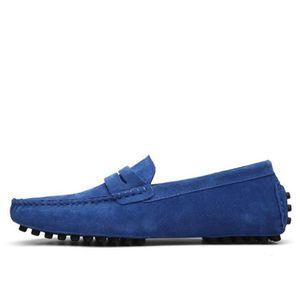 Moccasins hommes personnalité Moccasin homme printemps et automne Chaussures décontractées Respirant Plus De Couleur 39-46,bleu,43