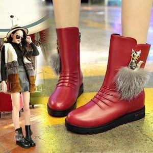 XZ497B3XZ497B3Femmes Flats chaud Chaussures femmes Bottes de neige Automne Hiver Chaussures Mode 8m2m0xWs