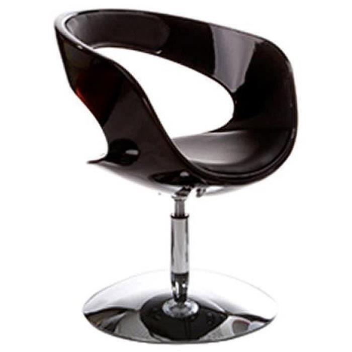 Et 2 Fauteuil Lot De 'space' Noire Noir Coque Design Rotatif Pivotant Similicuir LzGqMVpjSU
