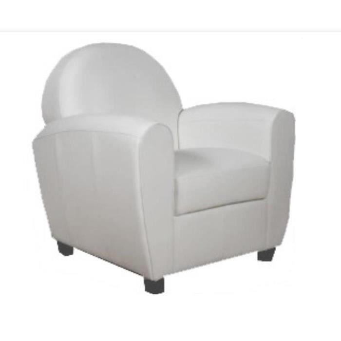 Fauteuil Club blanc Achat Vente fauteuil Blanc Soldes d¨s le