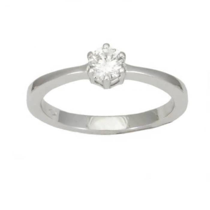 Solitaire Diamant Or:3.10 Gr Diamant:0.30 Ct