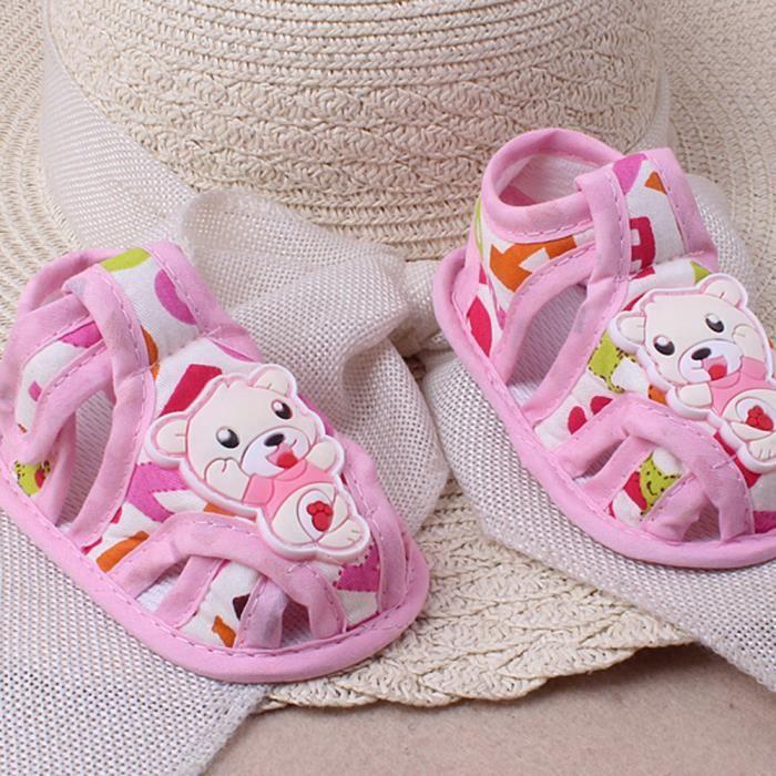 BOTTE Bébé Fille Garçon Semelle Souple Anti-dérapant Casual Chaussures Toddler Sandales@Bleu T55vvor