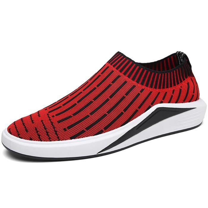 Slip-on Chaussettes Chaussures de sport légère Flyknit Sneakers de course A9HUG Taille-42 1-2