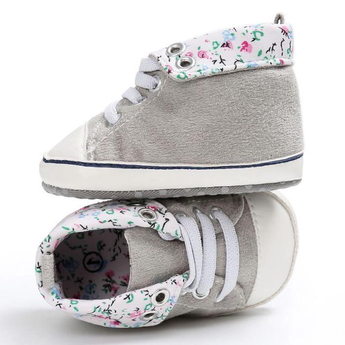 fbb3ac8ca83c1 BOTTE Chaussures bébé garçon fille nouveau-né crèche chaussures à semelle  souple GrisHM 6CcmHdgA4S