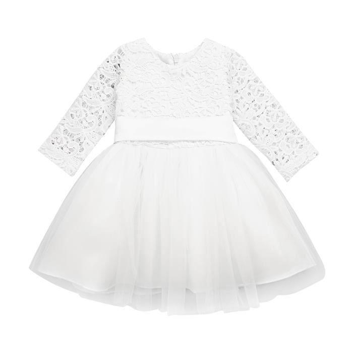 4f63a3b9c10ca Robe Bébé Fille jolie - soirée Mariage fête 3-24 Mois Princesse anniversaire