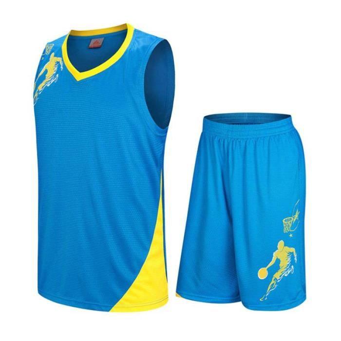 la meilleure attitude rencontrer utilisation durable Ensemble Sports Vêtement de Basket-Ball Maillot et Short Homme Pour Sport  Entraînement Séchage Rapide Respirant