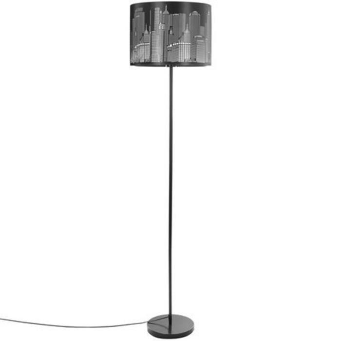 Paris Prix Lampadaire En Metal New York 160cm Noir Argent