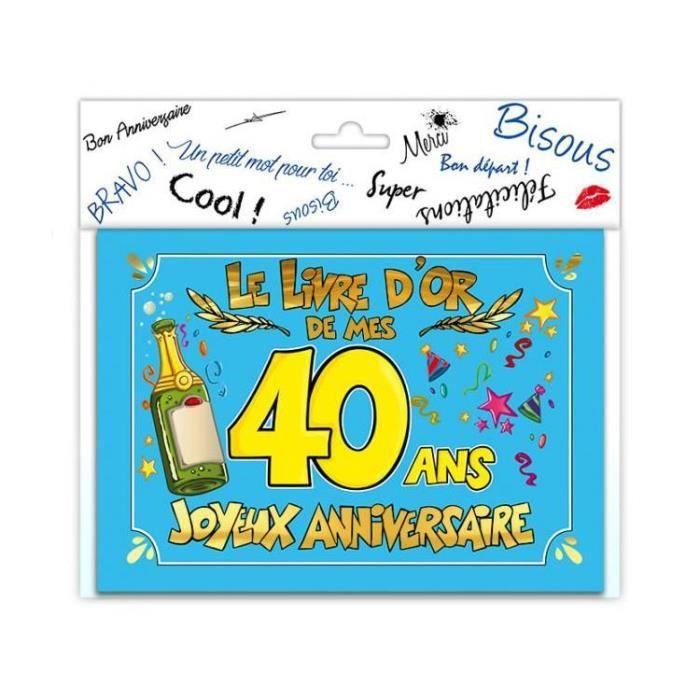 Livre D Or Anniversaire 40 Ans Achat Vente Livre D Or Livre D Or
