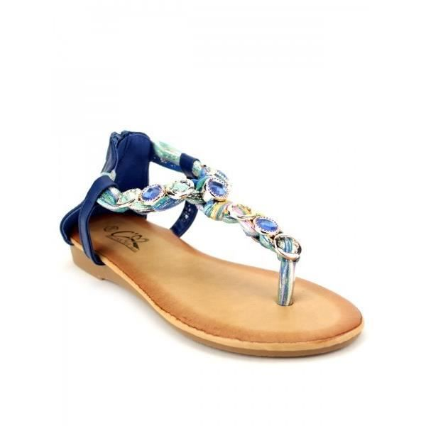 Tongs Bleu Chaussures Femme, Cendriyon