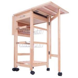 desserte de cuisine en bois a roulettes achat vente pas cher. Black Bedroom Furniture Sets. Home Design Ideas