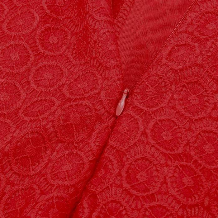 Robe Femme Robe dentelle de O-cou sans manches Slim taille était grande jupe mince