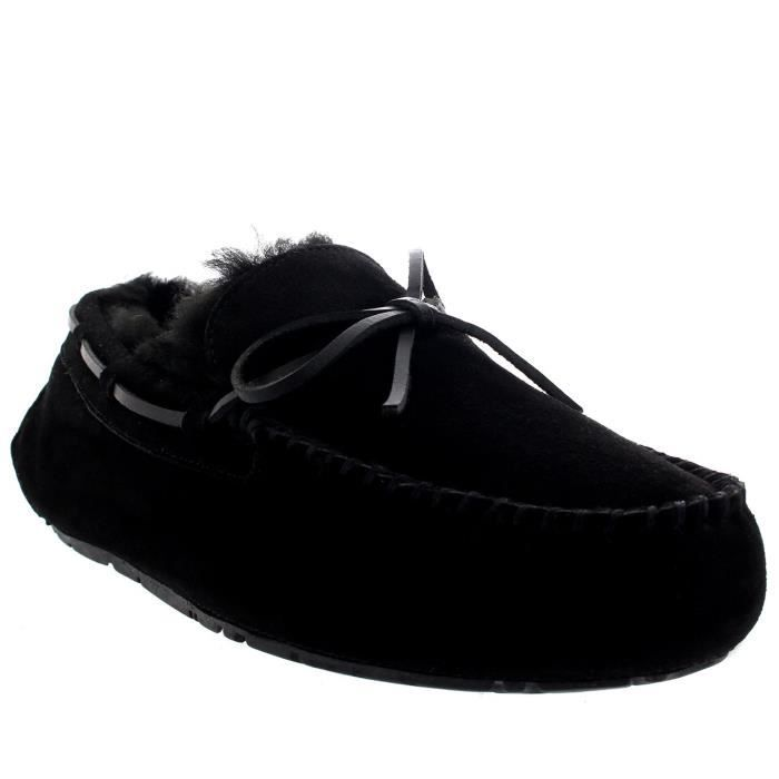 Mens Real Loafer Winter Moccasin Slippers D6Z4Q Taille-46