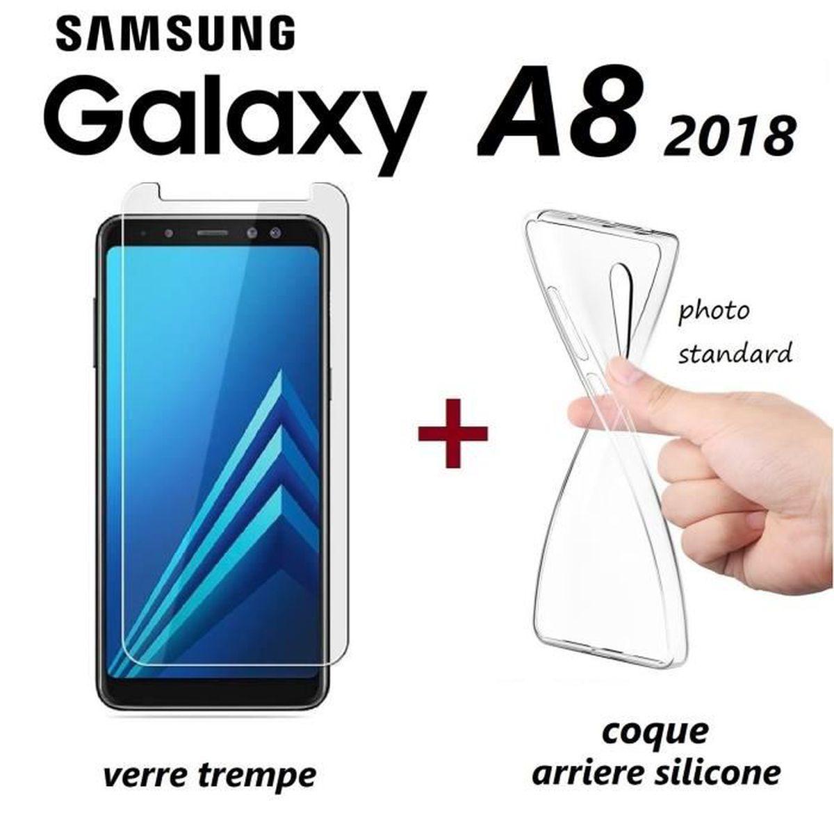 coque et verre samsung a8