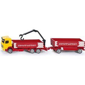 SIKU Camion de Construction et Remorque - Véhicule Miniature