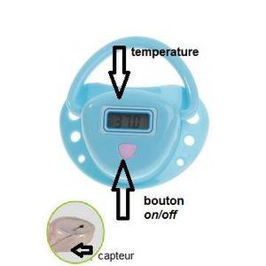 THERMOMÈTRE BÉBÉ thermometre bébé sucette bleu.