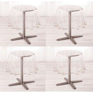 nappe ronde transparente achat vente pas cher. Black Bedroom Furniture Sets. Home Design Ideas
