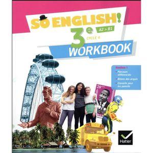 LIVRE COLLÈGE Livre - SO ENGLISH! ; anglais ; 3e ; workbook