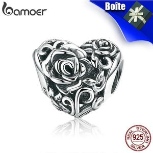 Charm's Charms Clip Forme Coeur Argent 925 Luxueux Crystal