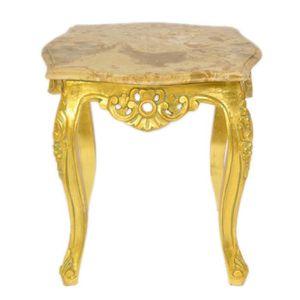 TABLE D'APPOINT Casa Padrino or table baroque de marbre de couleur