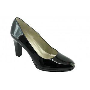 Kisha - Escarpin rond gros talon mode marque Angelina chaussures Femme  petites pointures tailles fabriqué Espagne vernis noir 37 e7f0794d084f