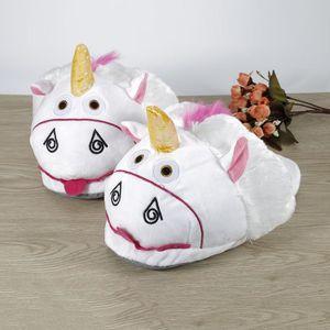 OOBEST® Une Paire de Pantoufles Licorne Unicorne Slip Épaississement Rose Antidérapante khXEgKTPZh