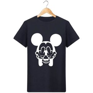 BASKET T-shirt fuck mickey mouse pour homme