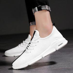 BASKET Baskets Chaussures Classique Sneaker Hommes Blanc