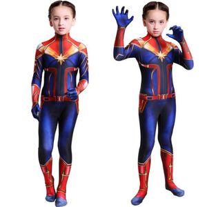 COMBINAISON Captain Marvel 3D Imprimée les enfants Combinaison